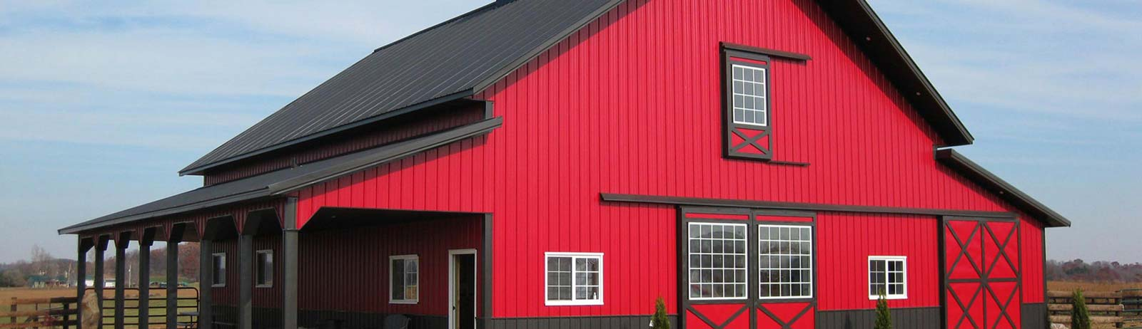 Steel Building Red Bard